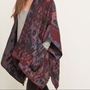 Abercrombie and Fitch oversized geo blanket poncho